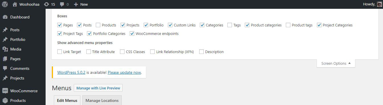 How to add WooCommerce product categories to the WordPress menu?