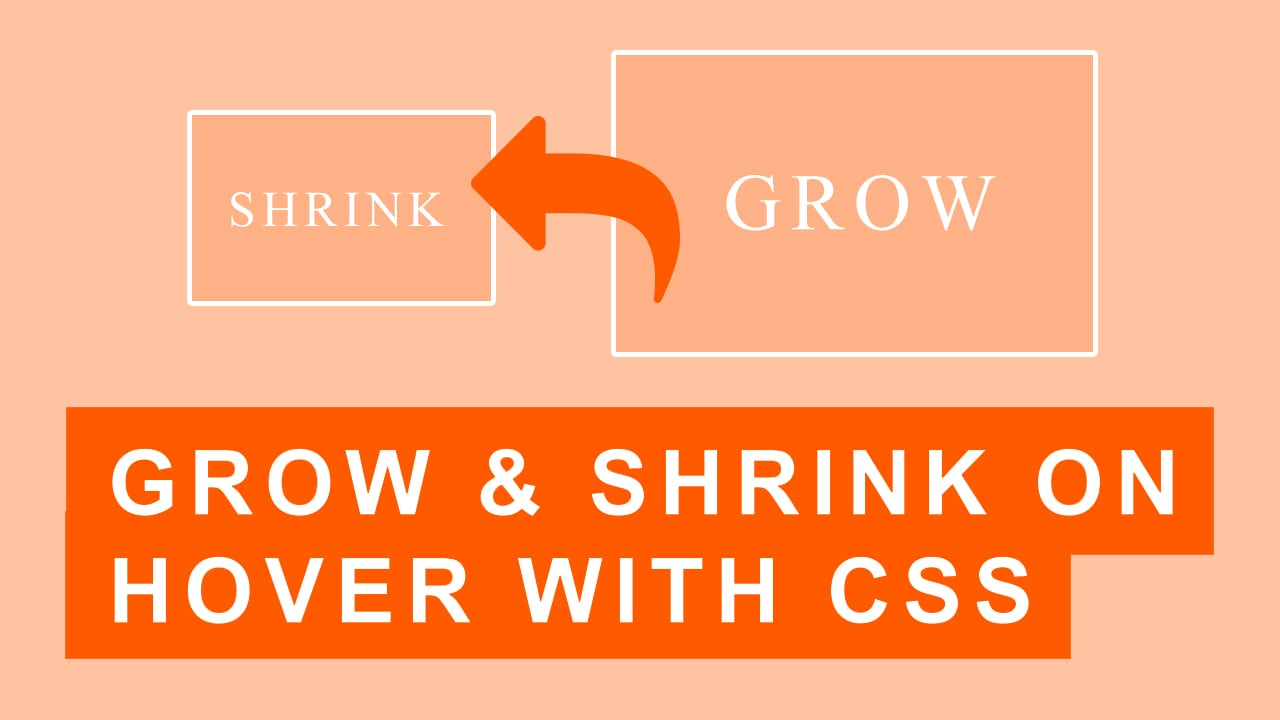 CSS Hover Effects Grow and Shrink | Quick Tutorial